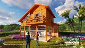 Casa de madeira modelo itapocu 15
