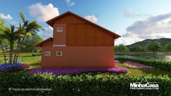 Casa de madeira modelo itapocu 16