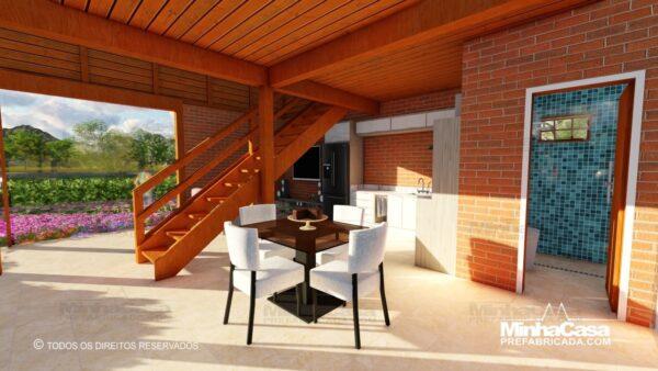 Casa de madeira modelo itapocu 18
