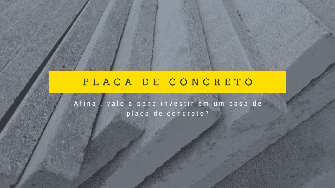 casas de placa de concreto