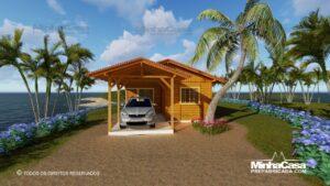 casas pré fabricada de madeira