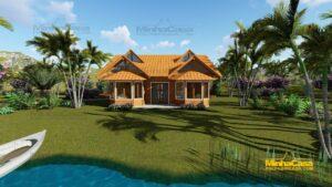 casas de madeira pré fabricada