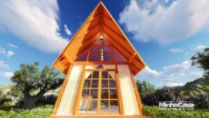 cabana de madeira rio das ostras